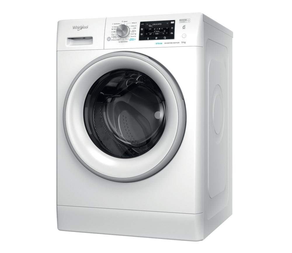 Whirlpool Pesukone Vapaasti sijoitettava FFD 9448 SEV EU Valkoinen Edestä täytettävä A+++ Perspective
