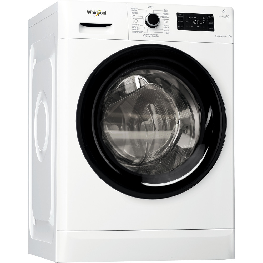 Lavadora carga frontal libre instalación Whirlpool 8kg A+++ -10% FWG81484WB SP – FreshCare+