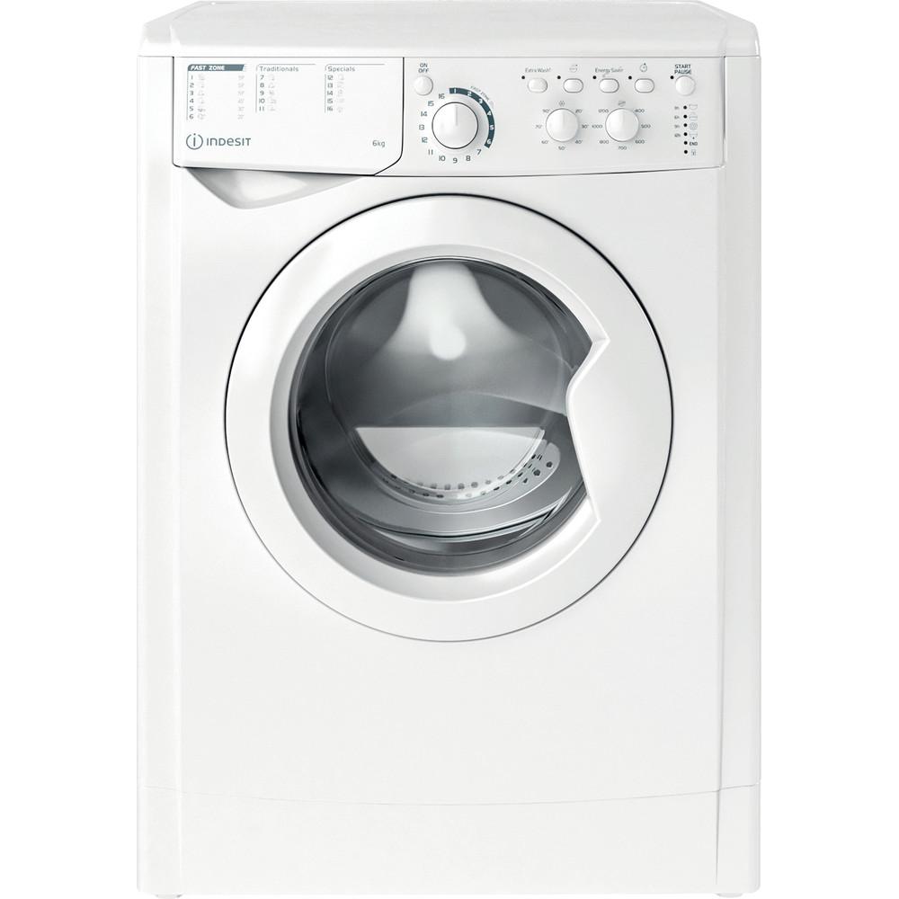 Indesit Перална машина Свободностоящи EWSC 61251 W EU N Бял Предно зареждане F Frontal