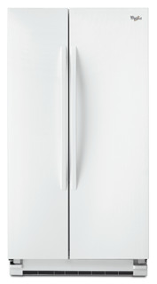 ثلاجة ويرلبول أمريكية بأبواب متجاورة: لون أبيض - 5WRS25KNBW