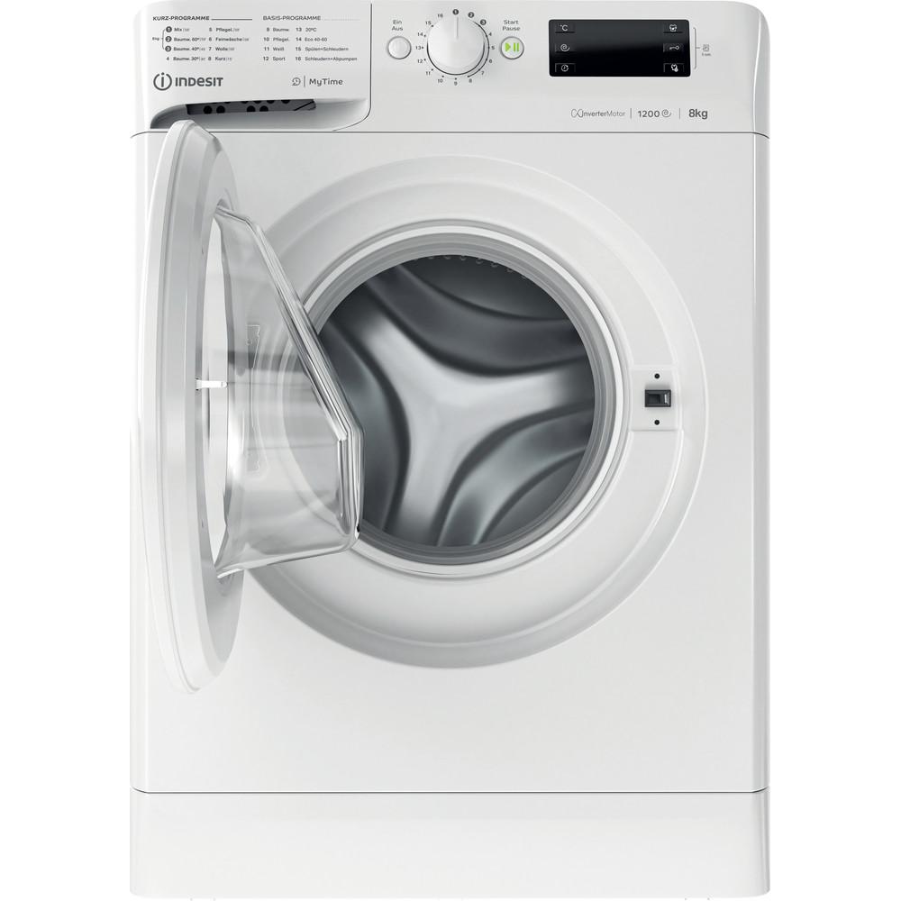 Indesit Waschmaschine Freistehend MTWE 81283E W DE Weiß Frontlader D Frontal open