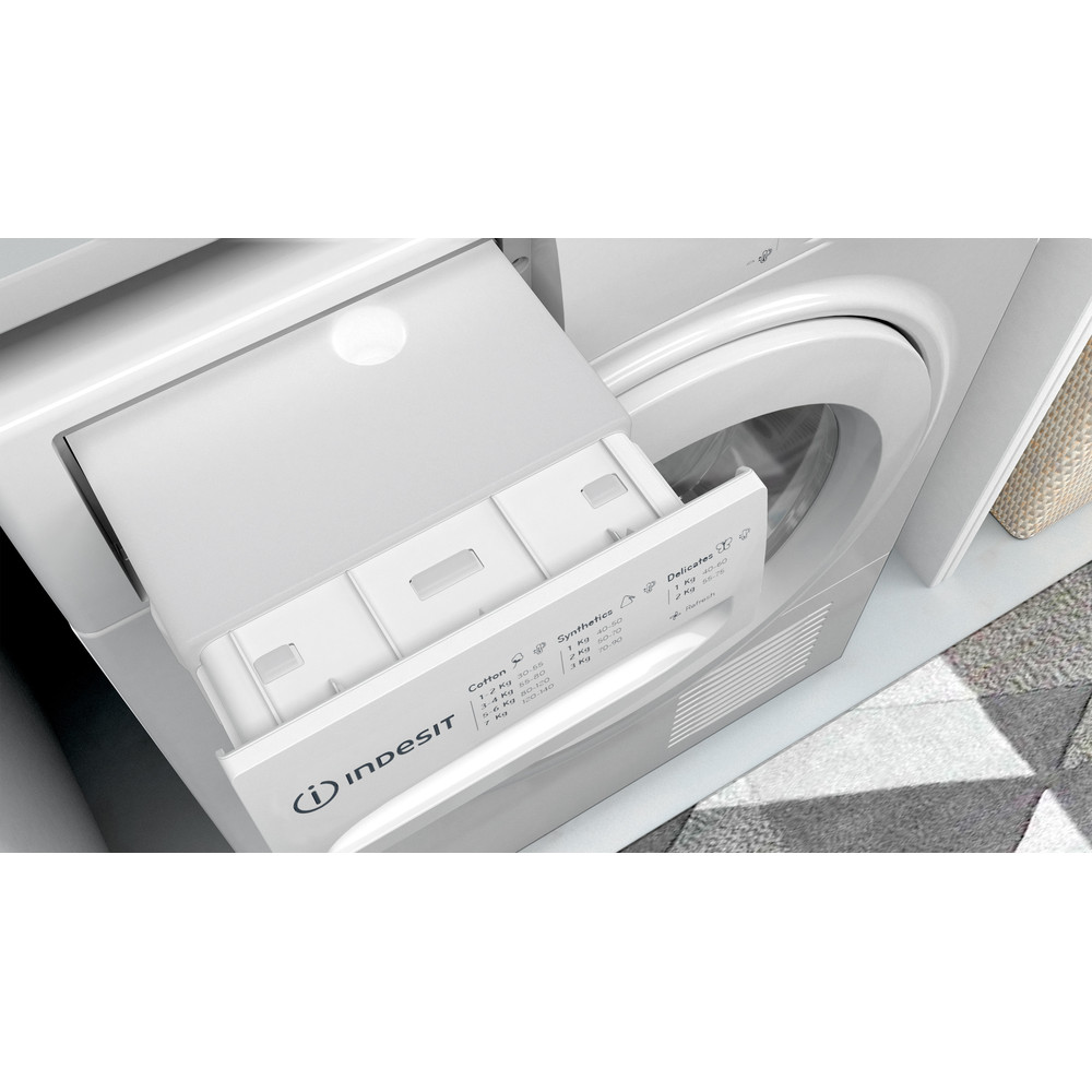 Indesit Dryer I2 D71W UK White Drawer