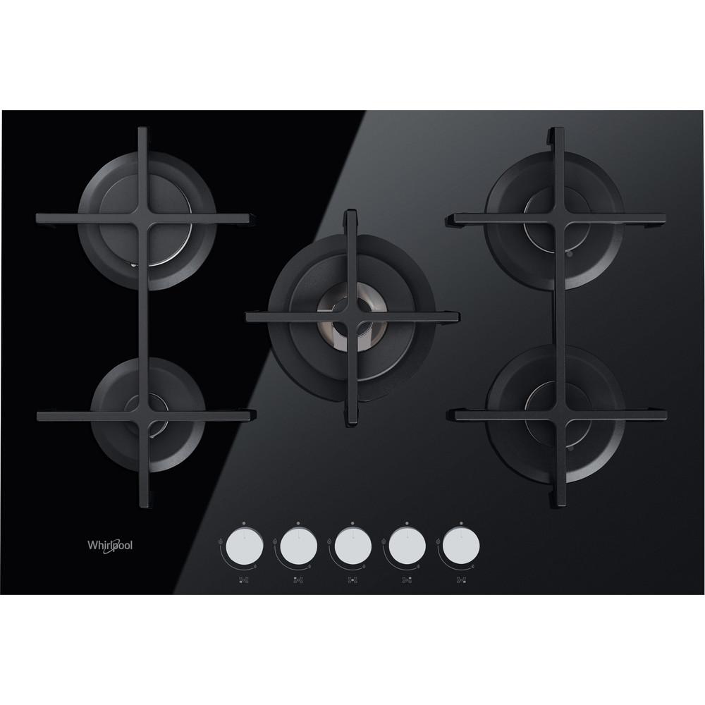 Placa de gas Natural cristal negro Whirlpool GOA 7523/NB con 5 zonas de cocción