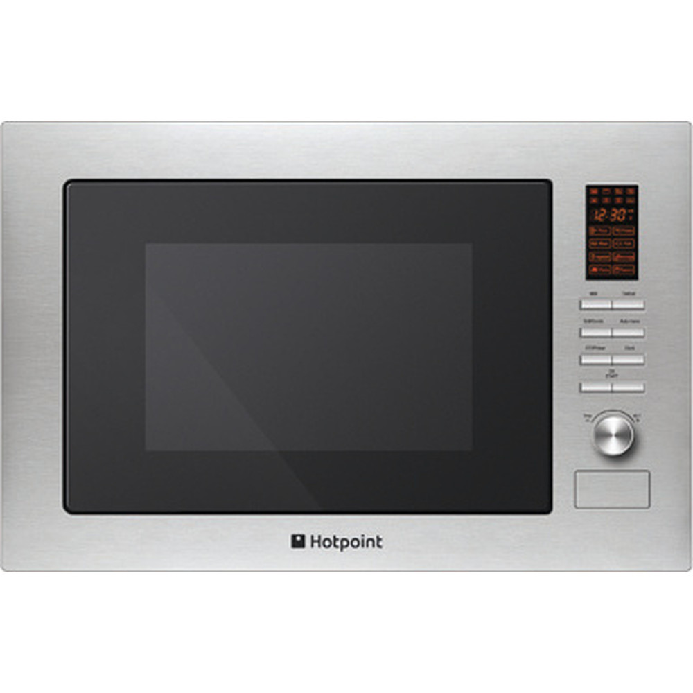 Hotpoint Microwave Built-in MWH 222.1 X Stainless Steel Electronic 25 MW+Grill function 900 Frontal
