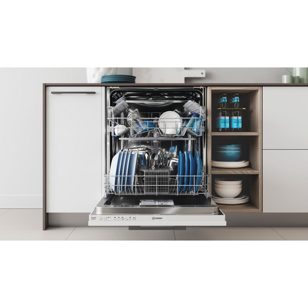 Indesit Mašina za pranje posuđa ugradbeni DIE 2B19 A A scomparsa totale F Lifestyle frontal open