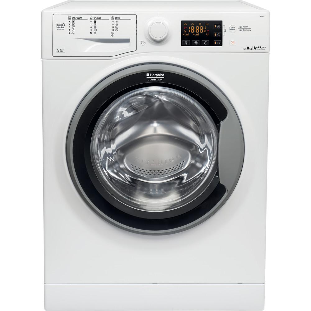 Hotpoint_Ariston Maşină de spălat rufe Neincorporabil RSG 825 JS EU Alb Încărcare frontală A +++ Frontal