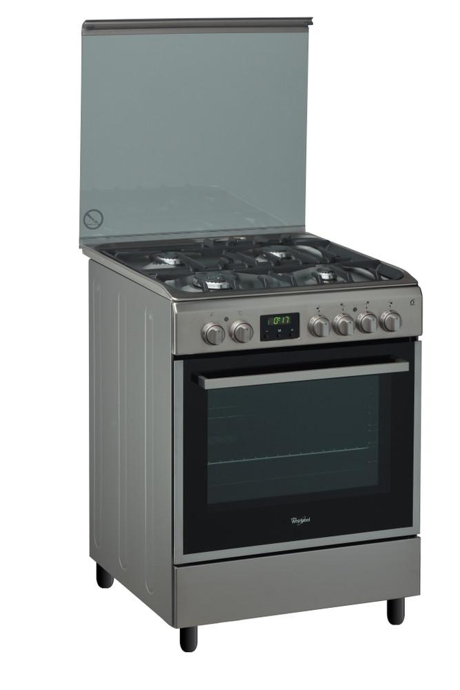 Whirlpool Cooker ACMK 6333/IX Inox/Black غاز Perspective