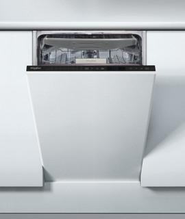 Whirlpool beépíthető mosogatógép: fekete szín, keskeny kialakítás - WSIP 4O33 PFE