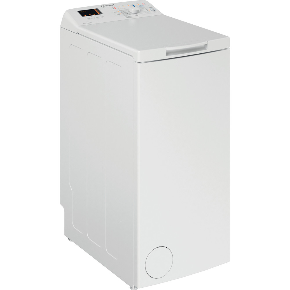 Indsit Maşină de spălat rufe Independent BTW S60300 EU/N Alb Încărcare Verticală D Perspective
