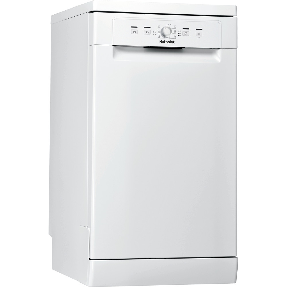 Hotpoint Dishwasher Free-standing HSFE 1B19 UK N Free-standing F Perspective