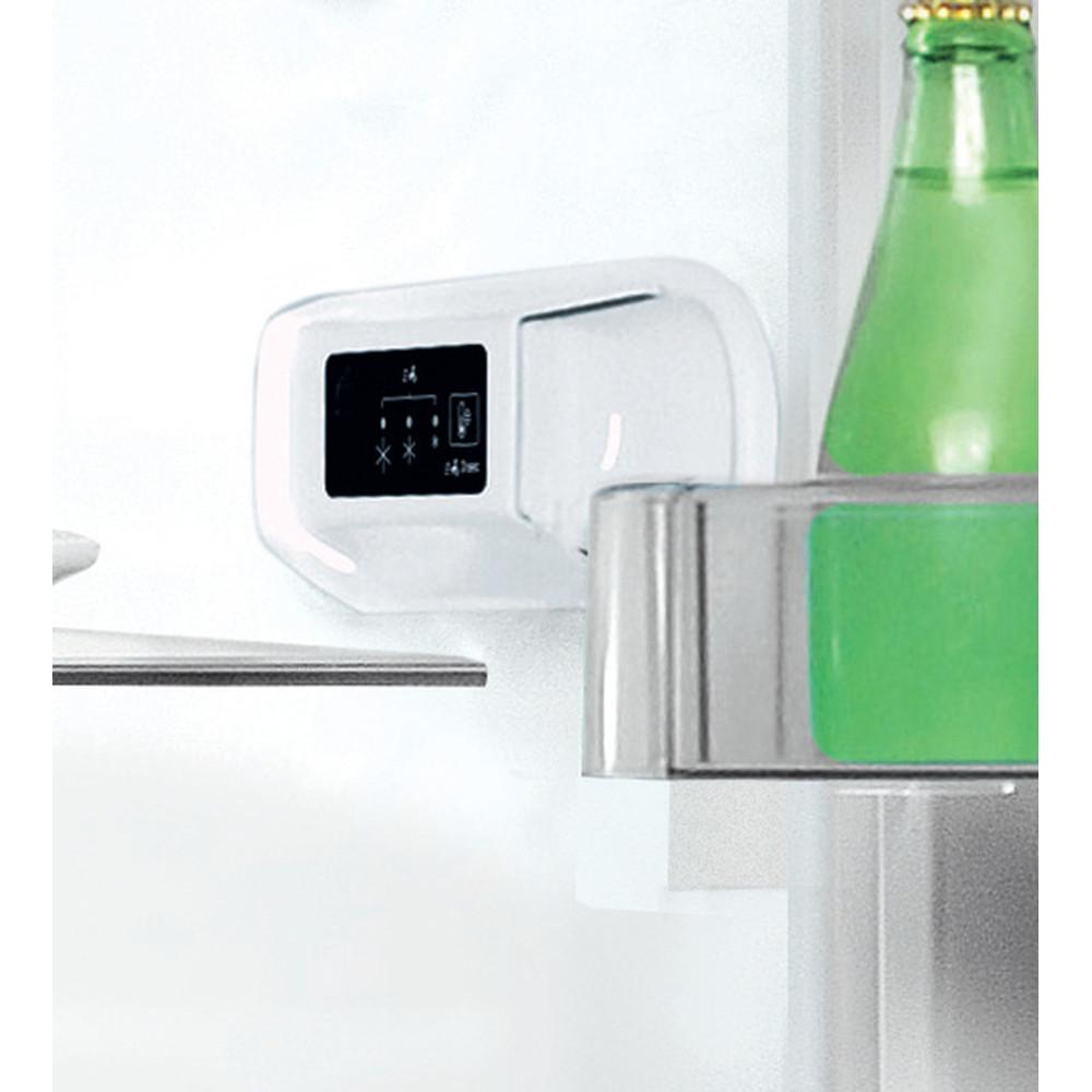 """""""Indesit"""" Šaldytuvo / šaldiklio kombinacija Laisvai pastatoma LI9 S2E X Nerūdijančio plieno 2 doors Lifestyle control panel"""