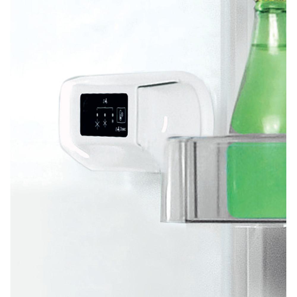 Indesit Lodówka z zamrażarką Wolnostojące LI7 S1E S Srebrny Dwudrzwiow(y)a Lifestyle control panel