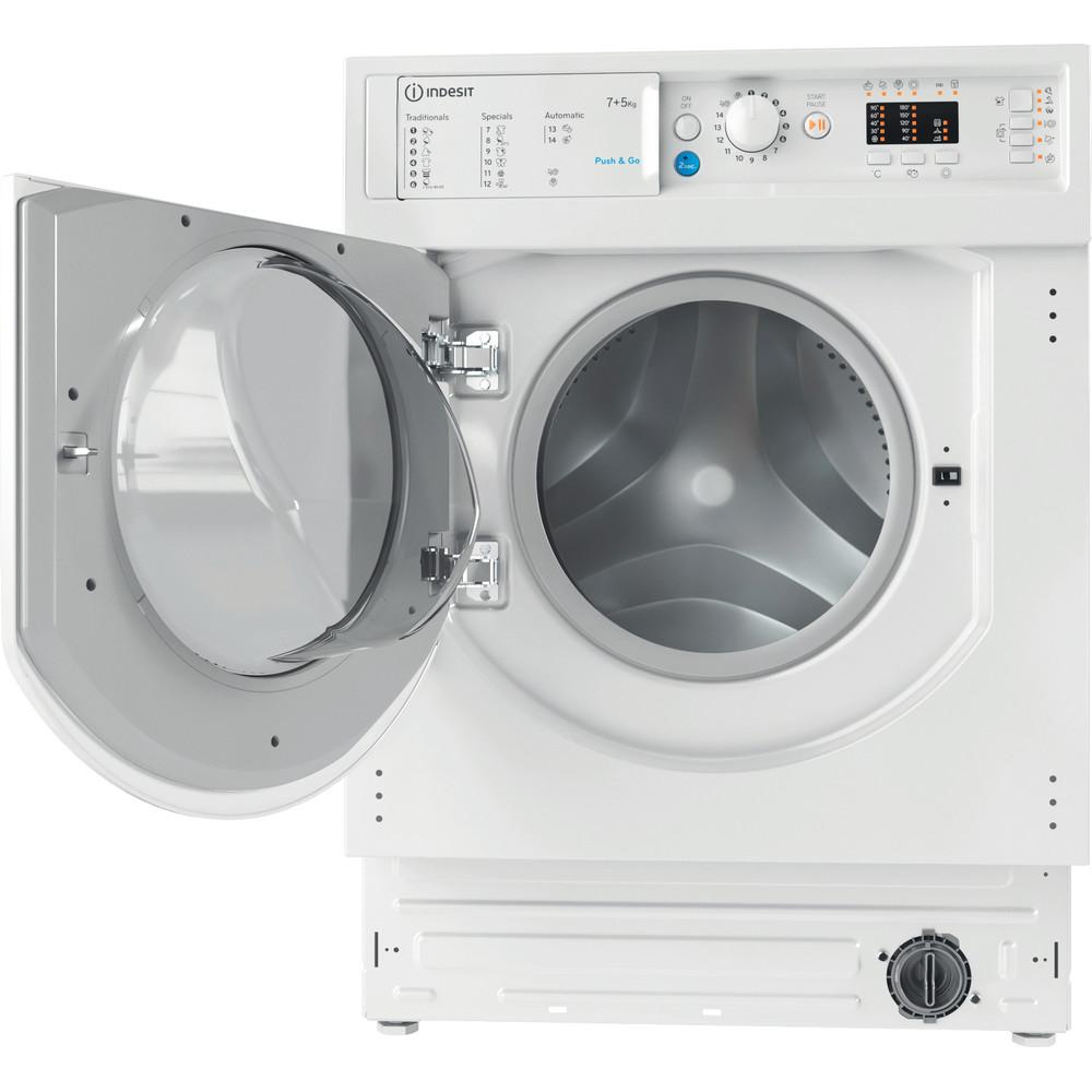 Indesit Lavadora secadora Encastre BI WDIL 751251 EU N Blanco Cargador frontal Frontal open