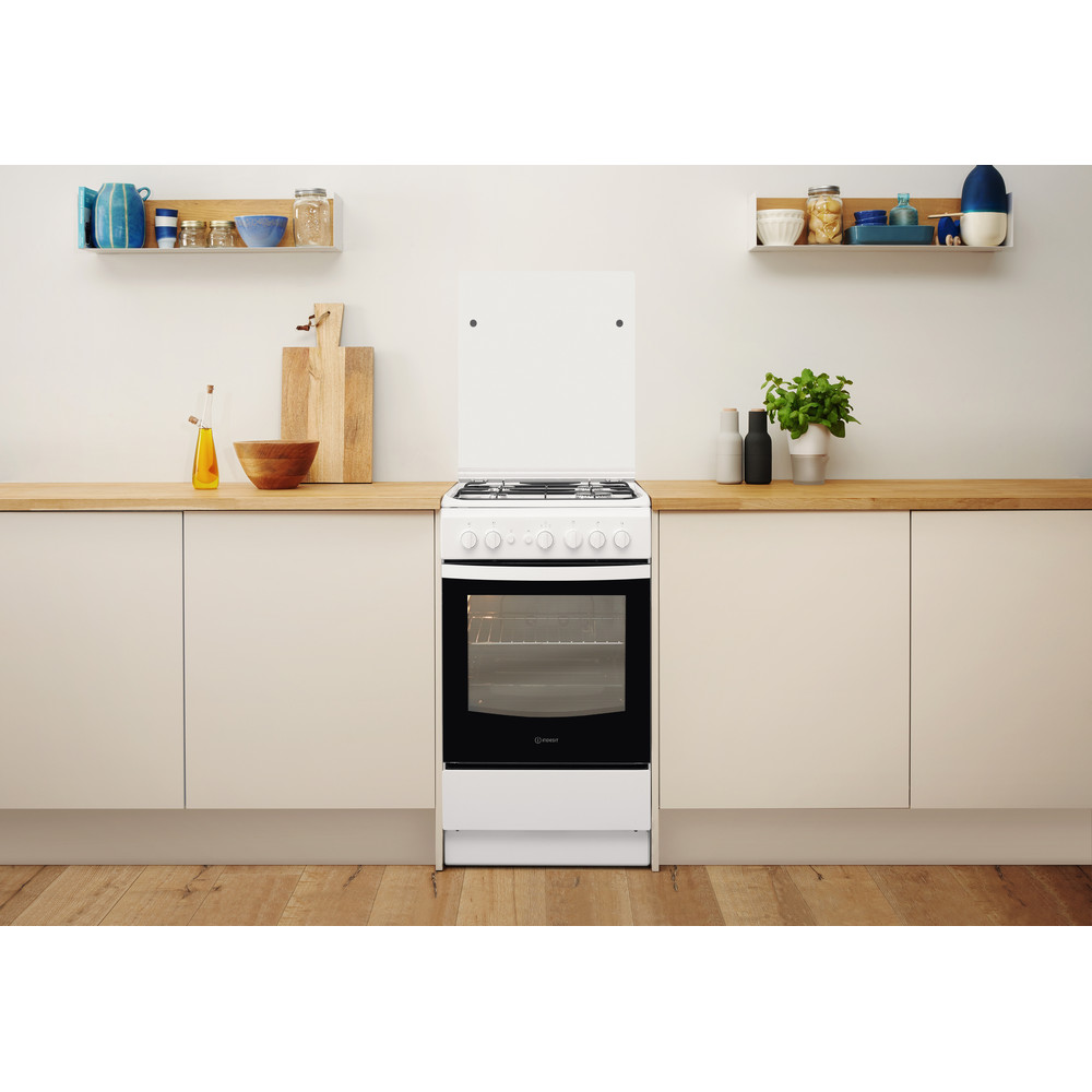 Indesit Fogão IS5G1PMW/E Branco Gás Lifestyle frontal