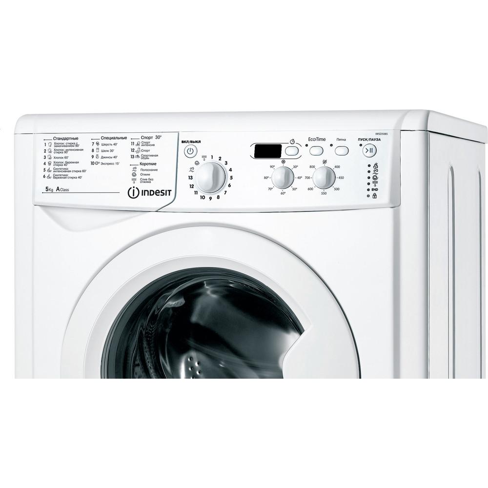Indesit Стиральная машина Отдельностоящий IWSD 5085 (CIS) Белый Фронтальная загрузка A Control panel