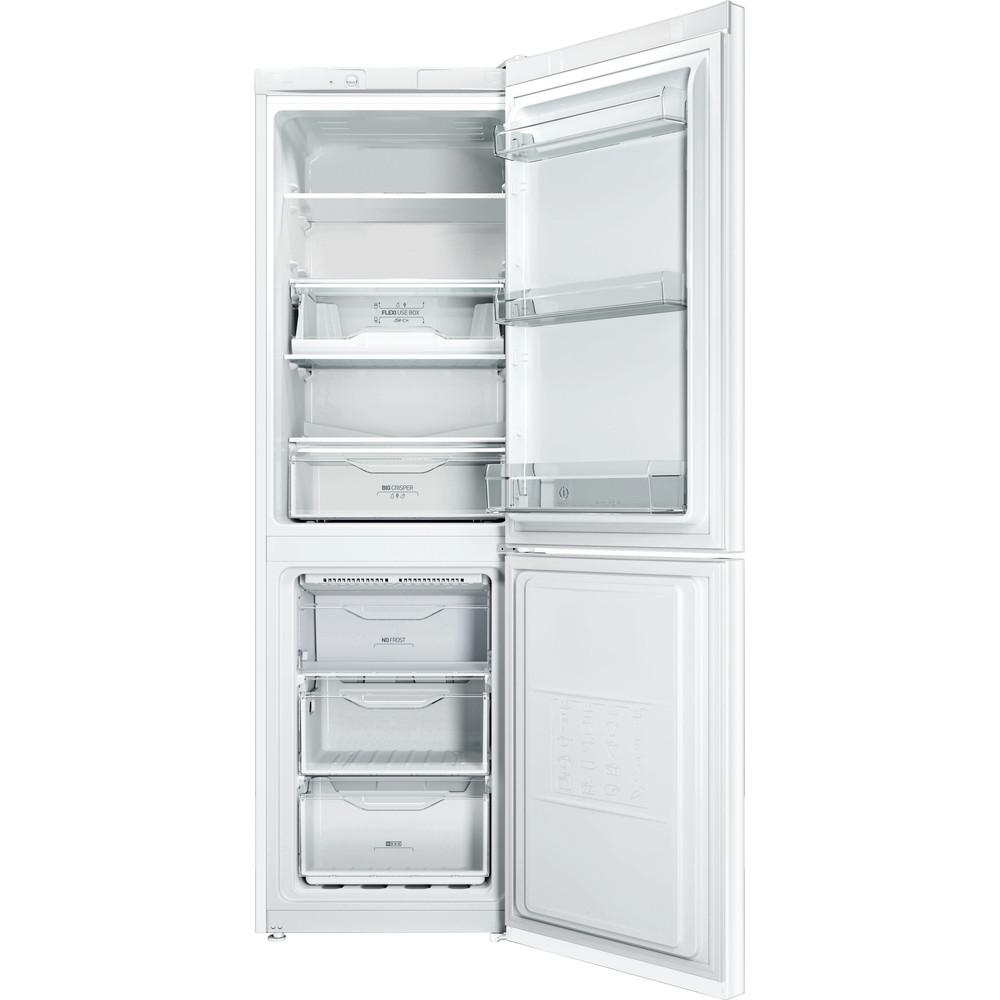 Indesit Комбиниран хладилник с камера Свободностоящи LI8 FF2 W Бял 2 врати Frontal open