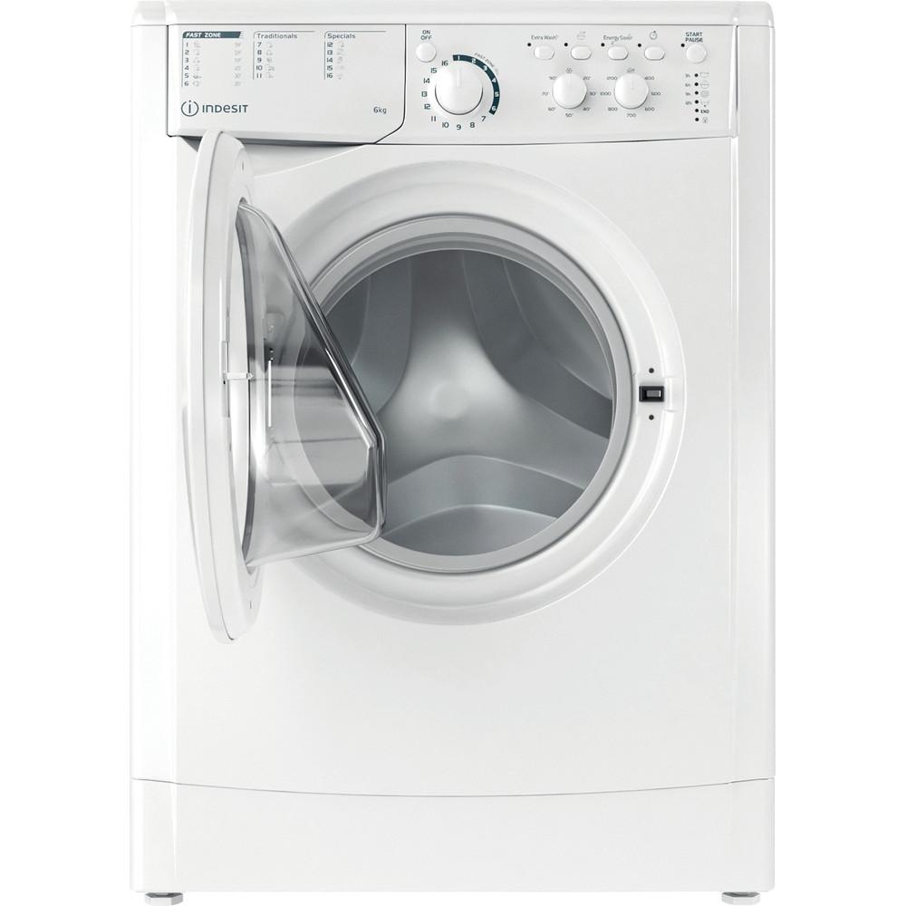 Indesit Перална машина Свободностоящи EWSC 61251 W EU N Бял Предно зареждане F Frontal open