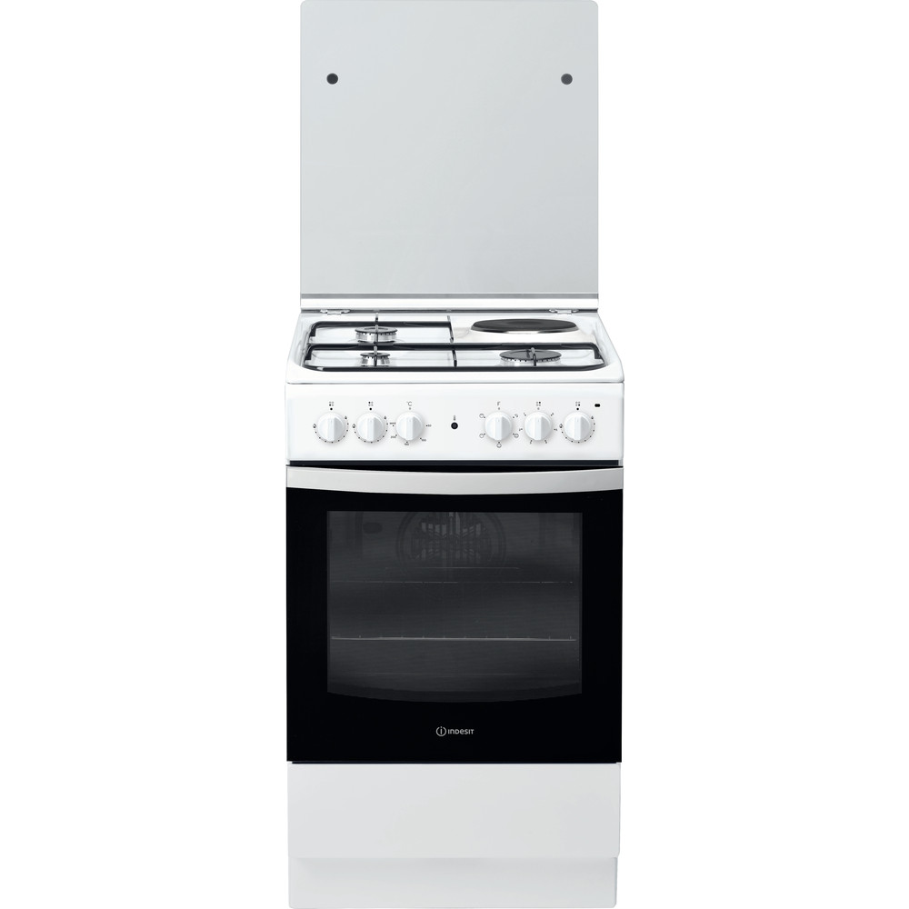 Indesit Готварска печка IS5M4KCW/E Бял Смесени Frontal