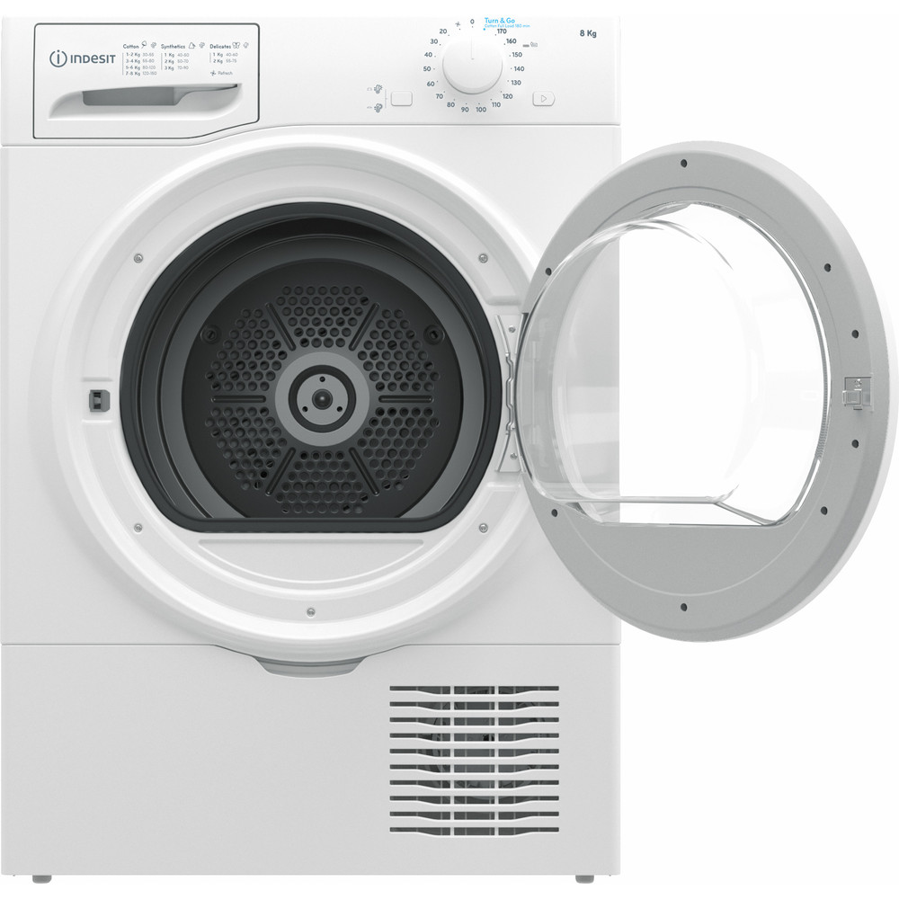 Indesit Dryer I2 D81W UK White Frontal open