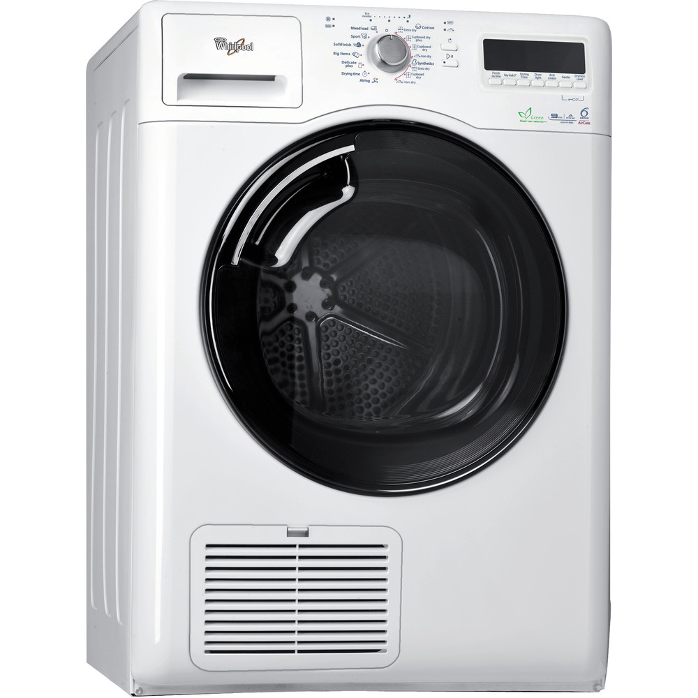 Whirlpool torktumlare: fristående, 9 kg - AZA-HP 9882