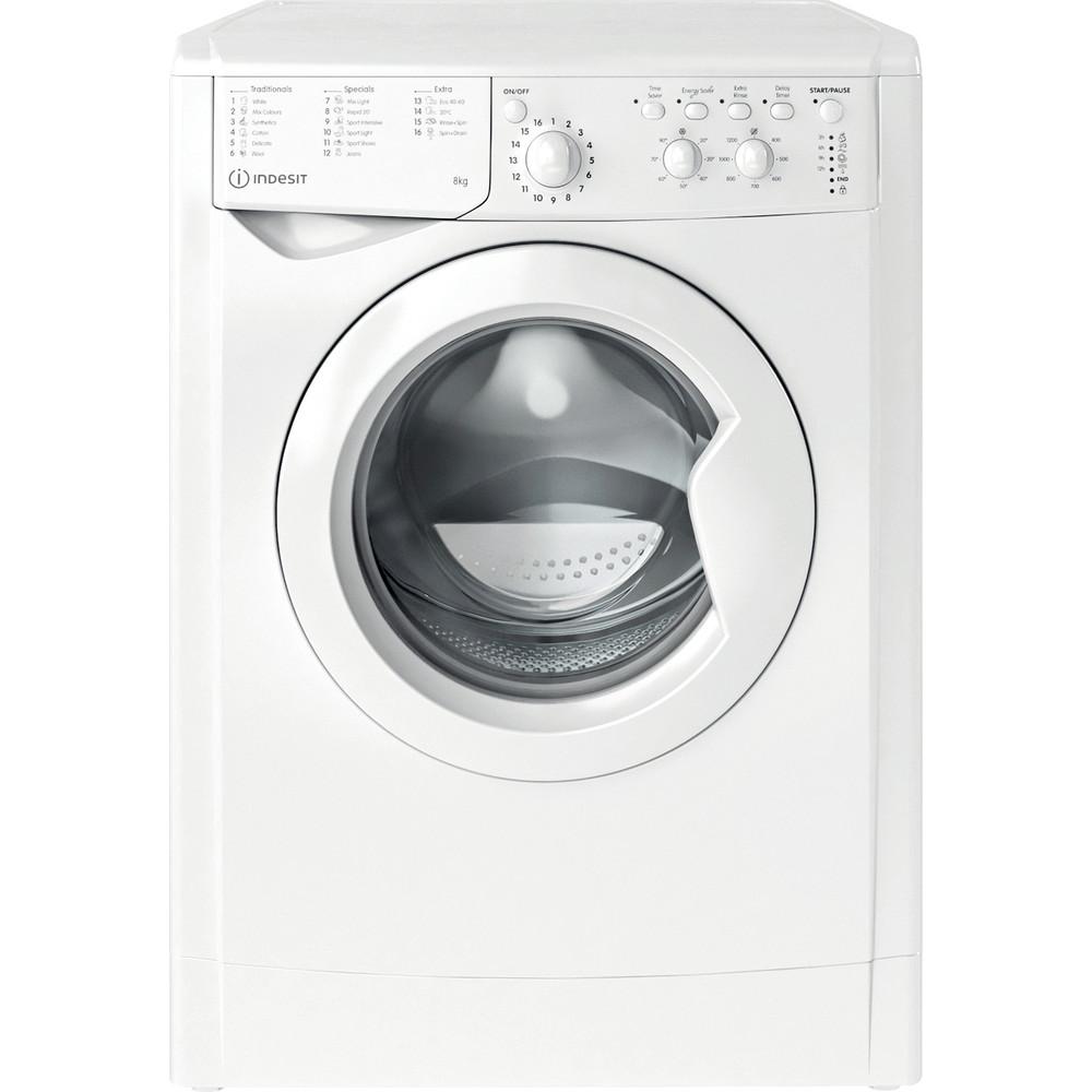 Indesit Washing machine Free-standing IWC 81251 W UK N White Front loader F Frontal