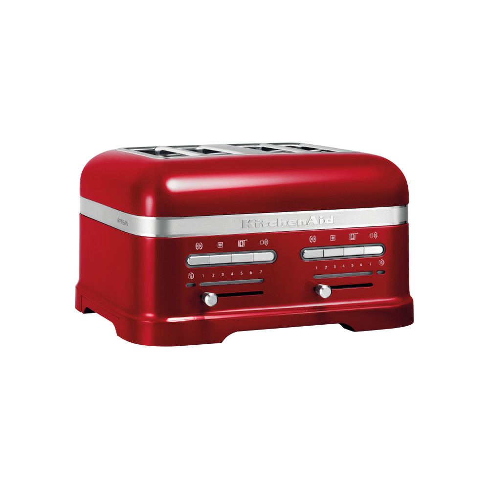 Apple candy red 4 Slice Toaster | The