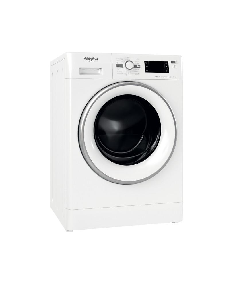Whirlpool Washer dryer Samostojeća FWDG 961483 WSV EE N Bela Prednje punjenje Perspective