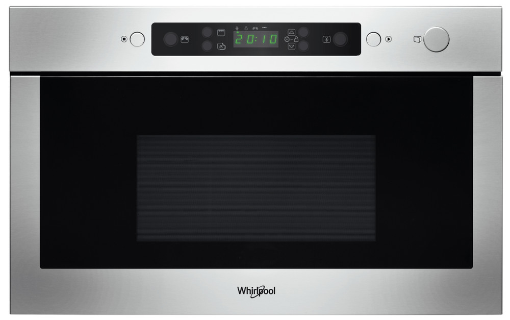 Whirlpool Four micro-ondes Encastrable AMW 438/IX Acier inoxydable Electronique 22 Micro-ondes + gril 750 Frontal