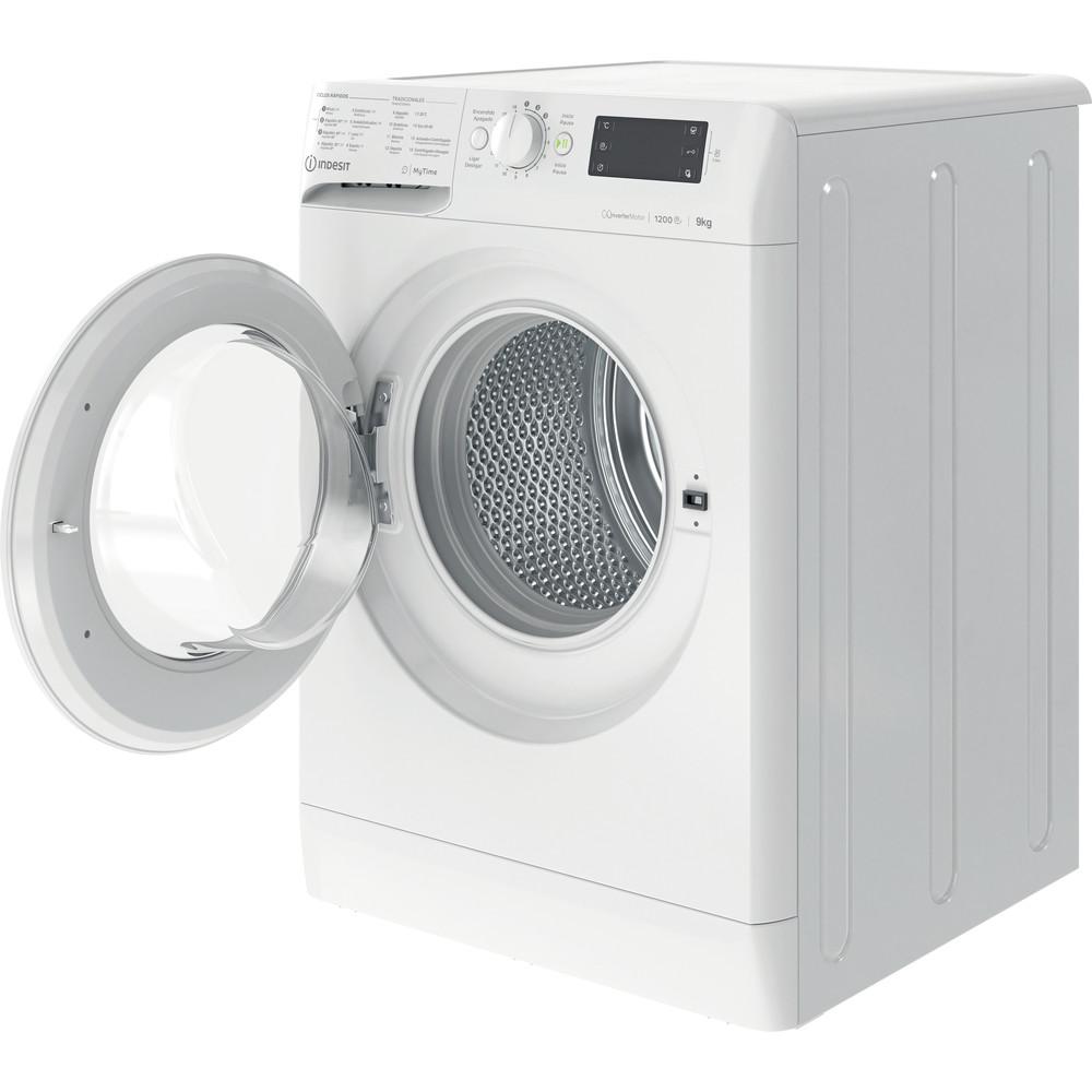 Indesit Máquina de lavar roupa Livre Instalação MTWE 91283 W SPT Branco Carga Frontal D Perspective open