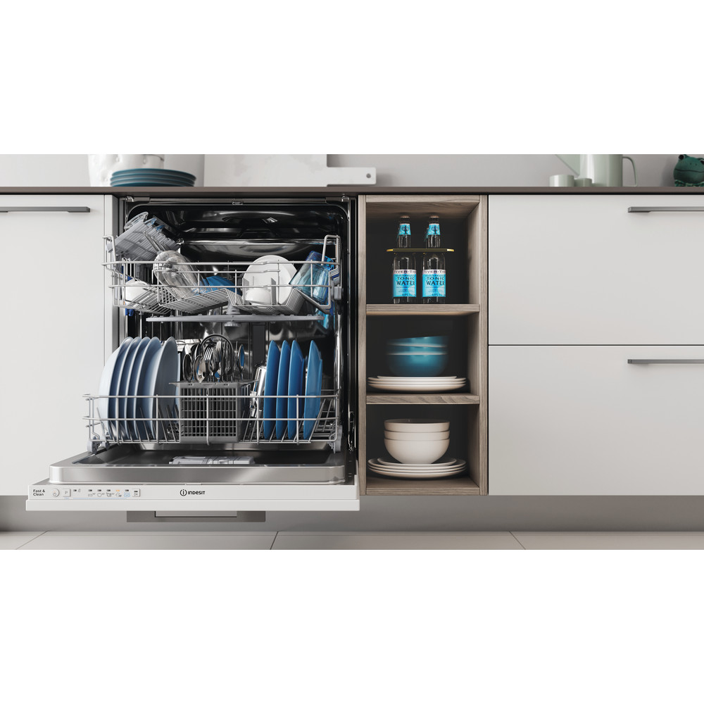 Indesit Dishwasher Built-in DIE 2B19 UK Full-integrated F Lifestyle frontal open