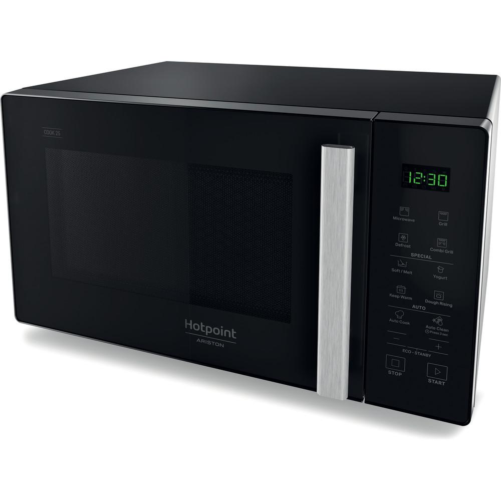 Hotpoint_Ariston Micro-ondas Livre Instalação MWHA 253 B Preto Eletrónico 25 MO + Função Grill 900 Perspective