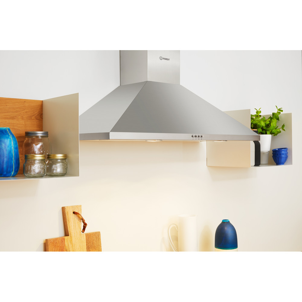 Indesit HOOD Built-in IHPC 9.5 LM X Inox Wall-mounted Mechanical Lifestyle perspective