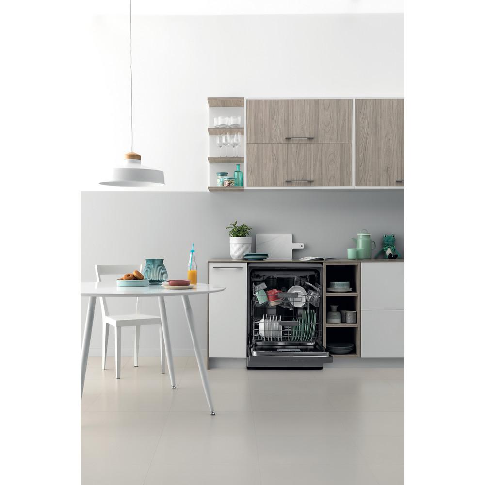 Indesit Máquina de lavar loiça Livre Instalação DFO 3T133 A F X Livre Instalação D Lifestyle frontal open