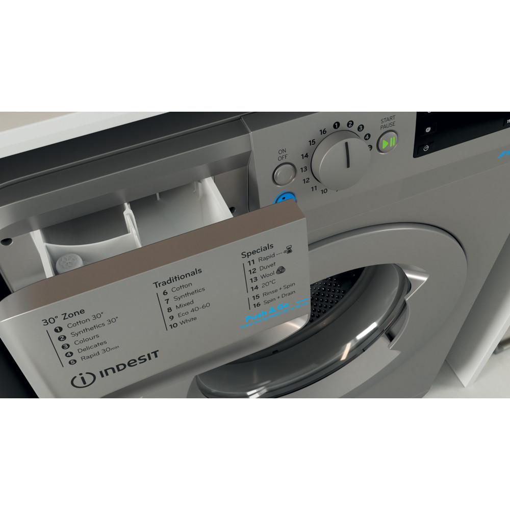 Indesit Washing machine Free-standing BWE 71452 S UK N Silver Front loader E Drawer