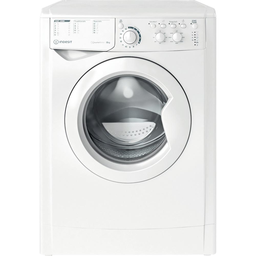 Indesit Перална машина Свободностоящи EWC 81483 W EU N Бял Предно зареждане D Frontal