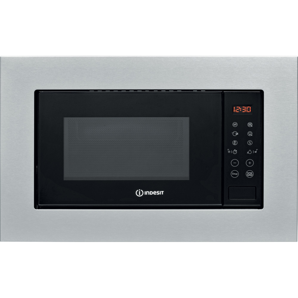 Indesit Microonde Da incasso MWI 120 GX Stainless Steel Elettronico 20 Microonde + grill 800 Frontal