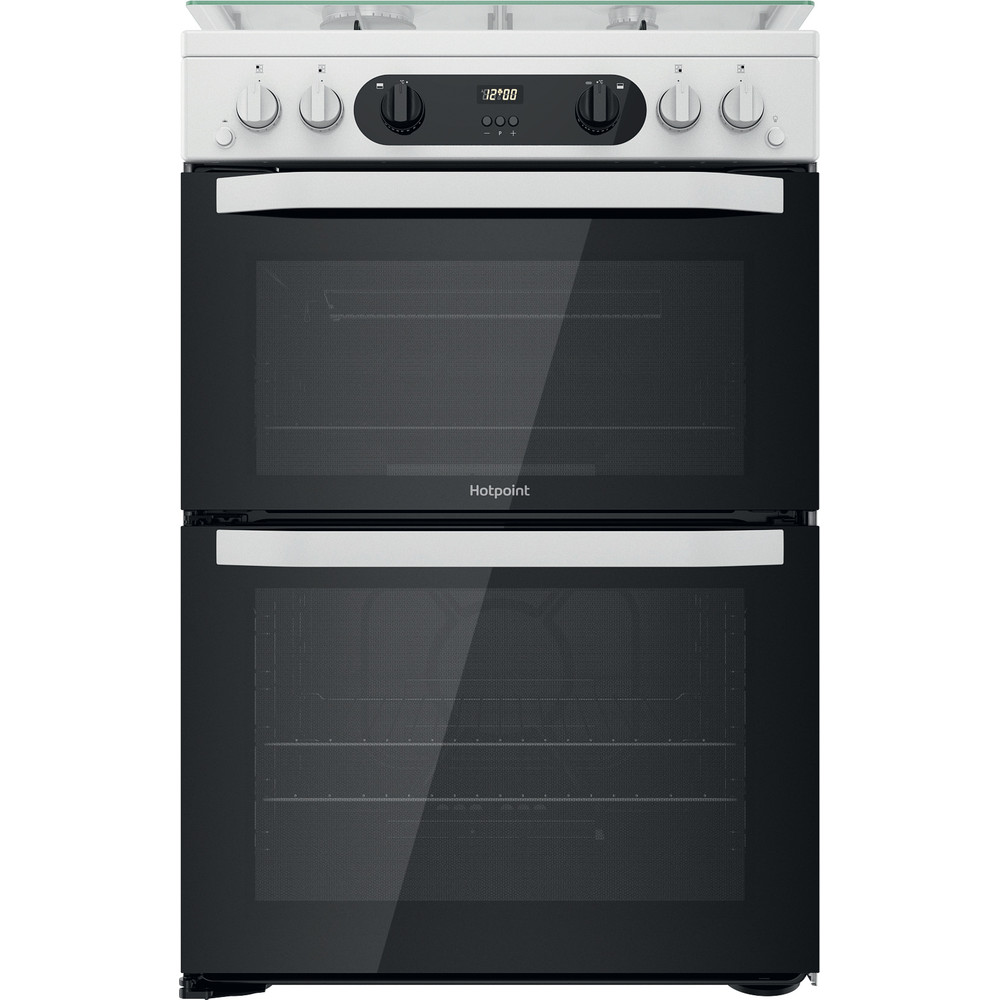 Hotpoint Double Cooker HDM67G0CCW/UK White A+ Frontal