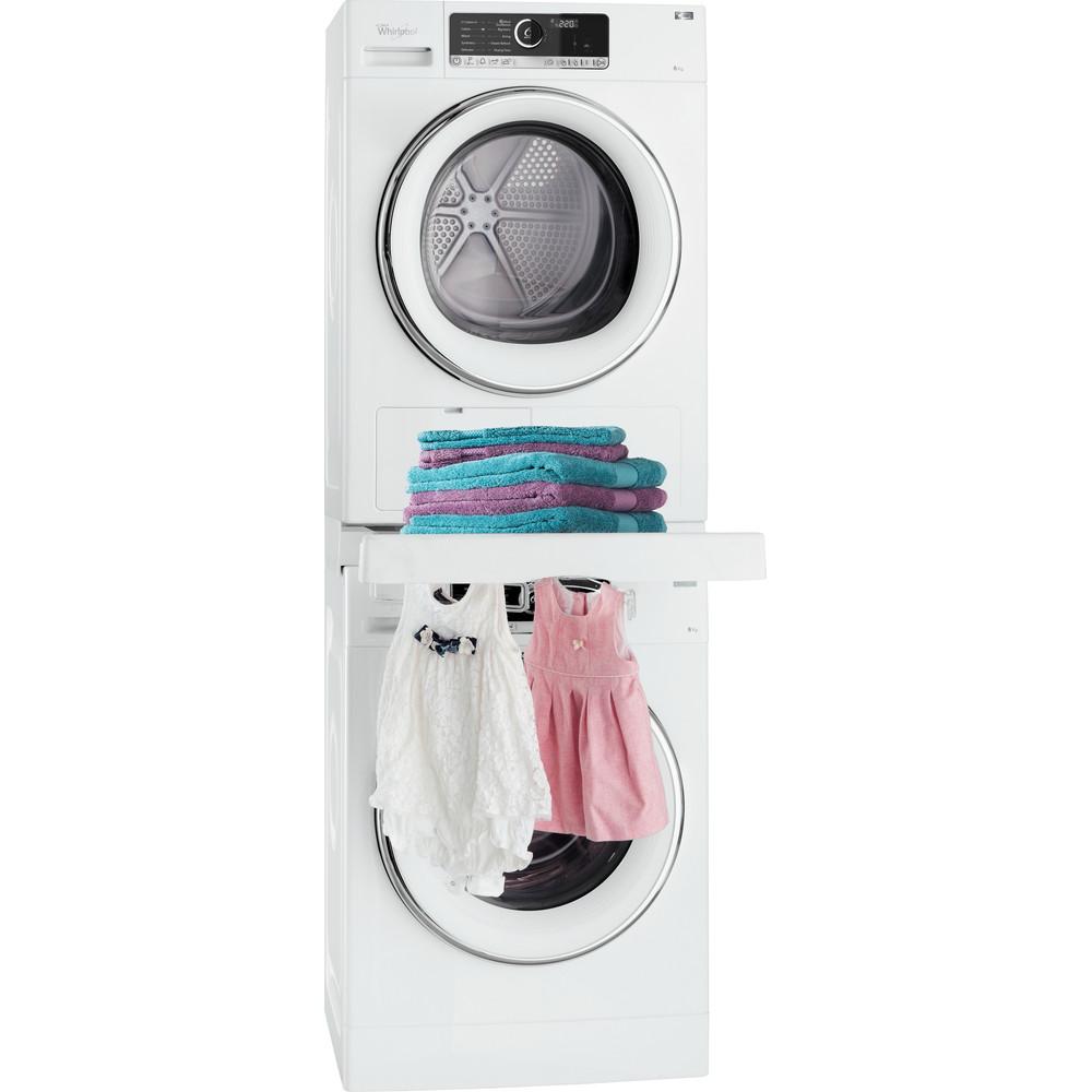 Stableramme for vask og tørk - med uttrekkbar hylle -