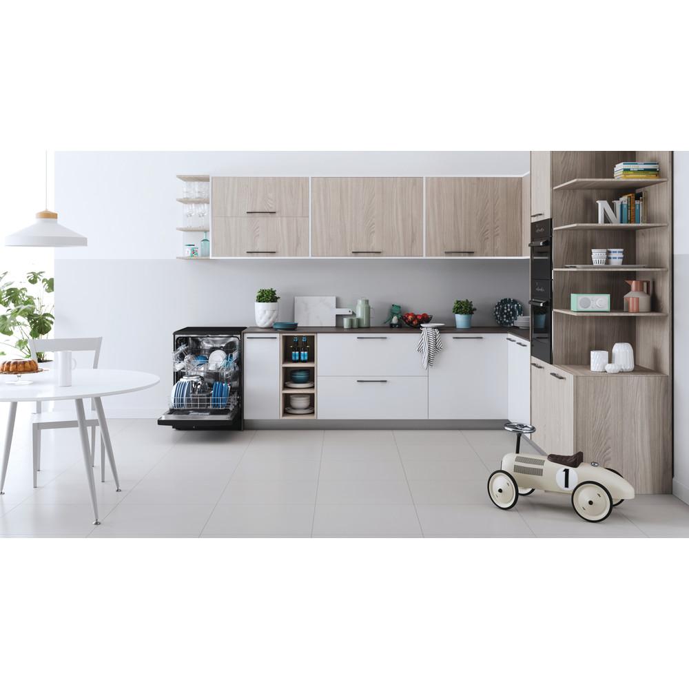 Indesit Dishwasher Free-standing DFE 1B19 B UK Free-standing F Lifestyle frontal open