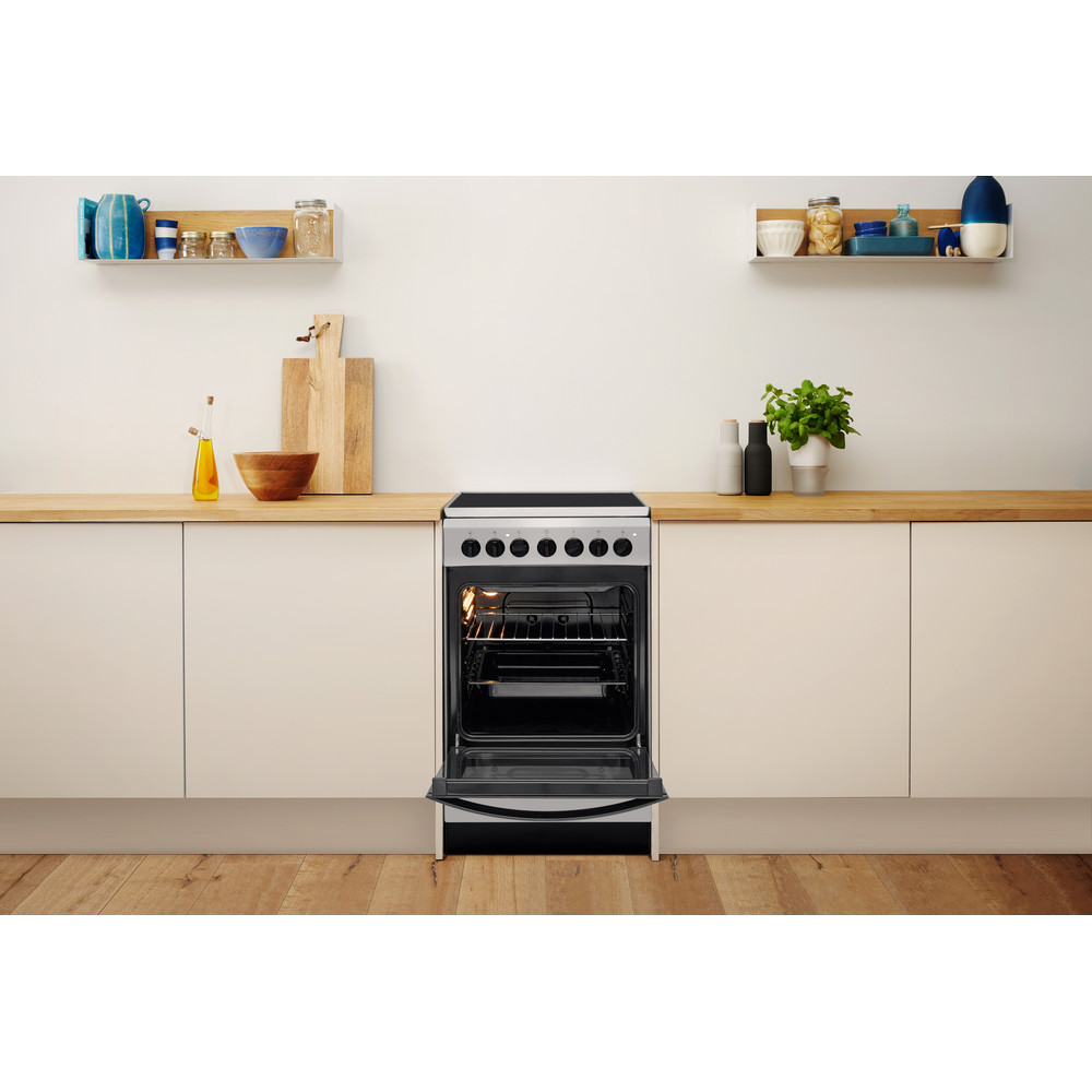 Indesit Плита IS5V4PHX/RU Inox Electrical Lifestyle frontal open