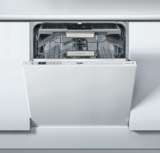 Integreret Whirlpool-opvaskemaskine: inox-farve, fuld størrelse - WIO 3P23 PL