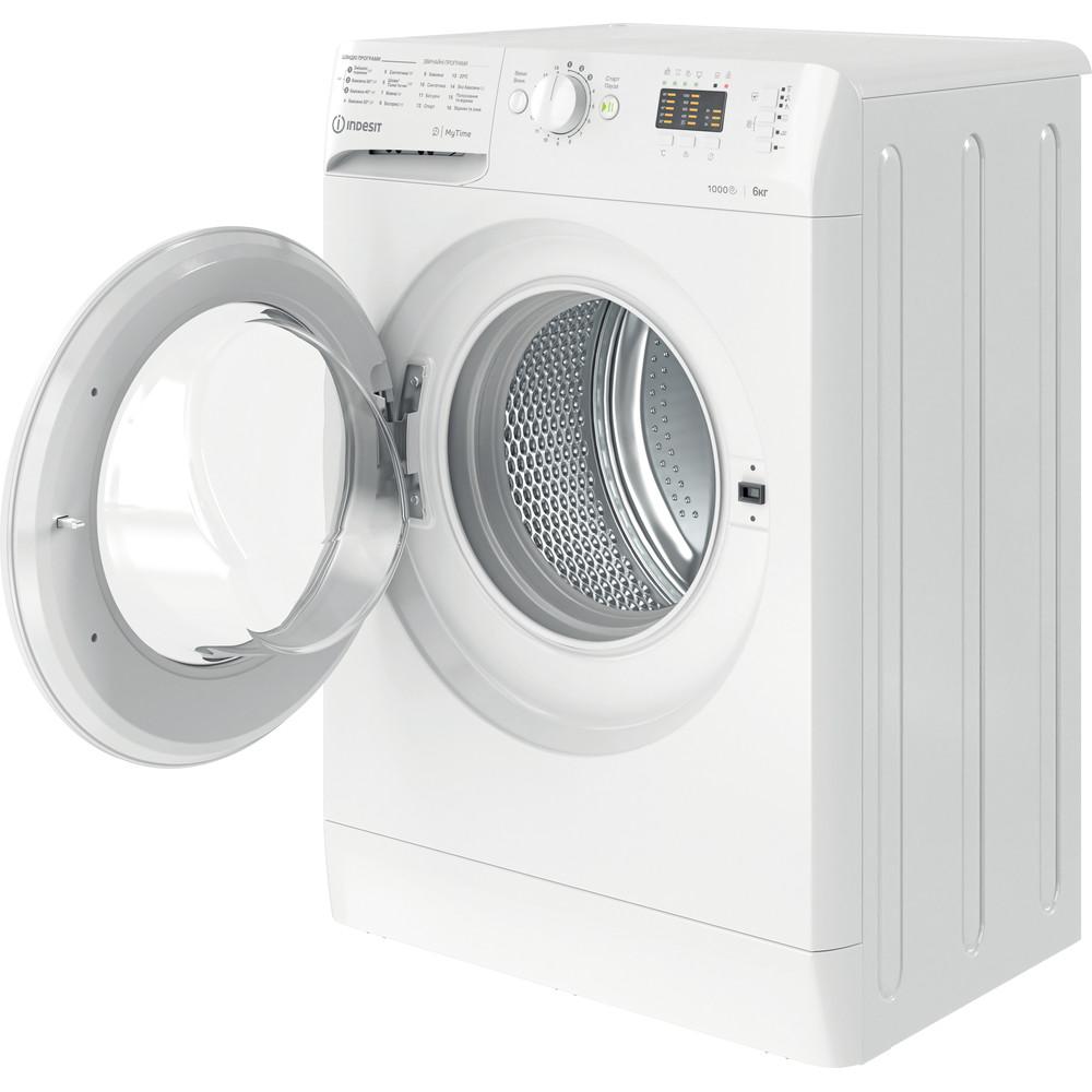 Indesit Стиральная машина Отдельно стоящий OMTWSA 61052 W UA Белый Front loader A++ Perspective open