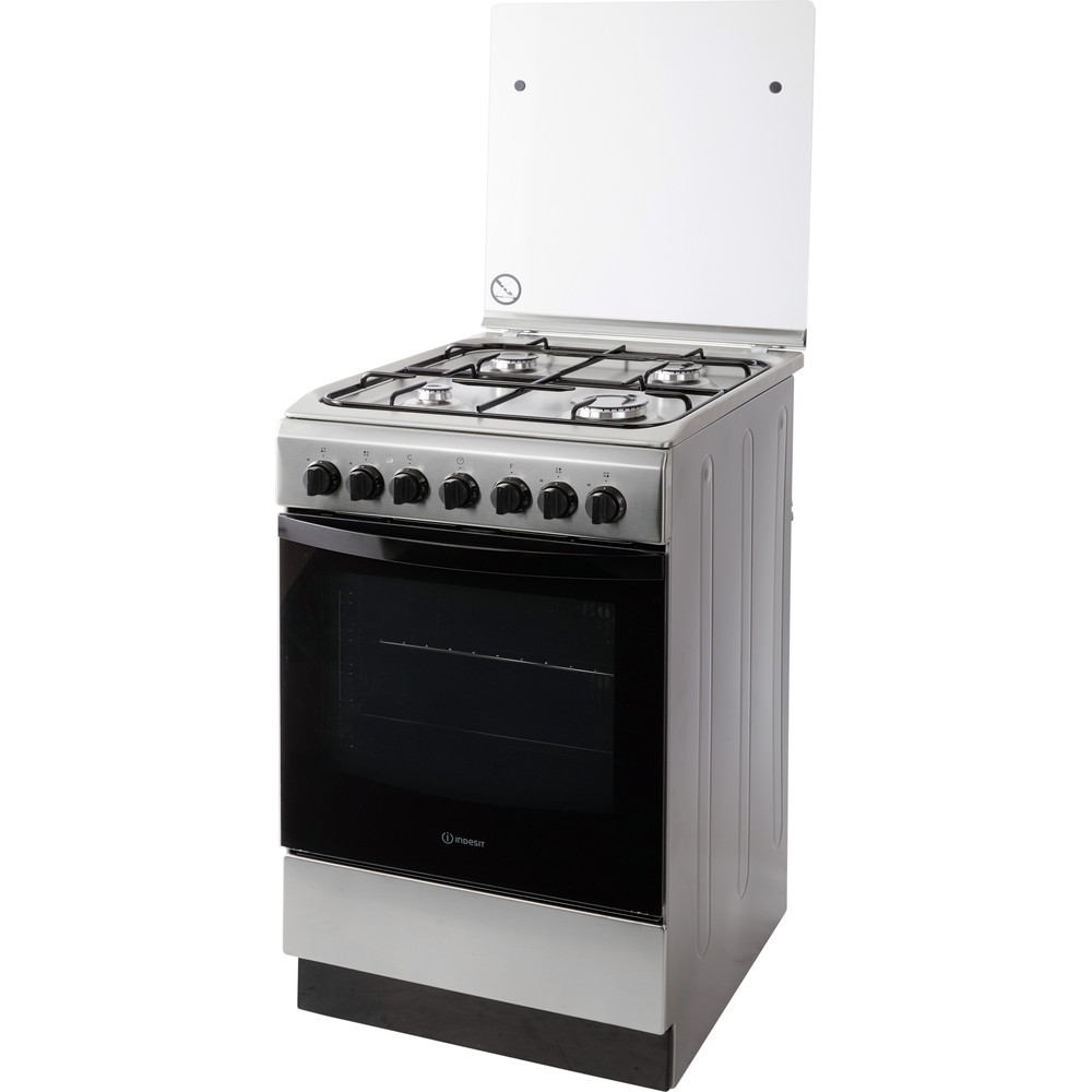 Indesit Fornuis IS5G5PHX/NL Rvs Gas Perspective