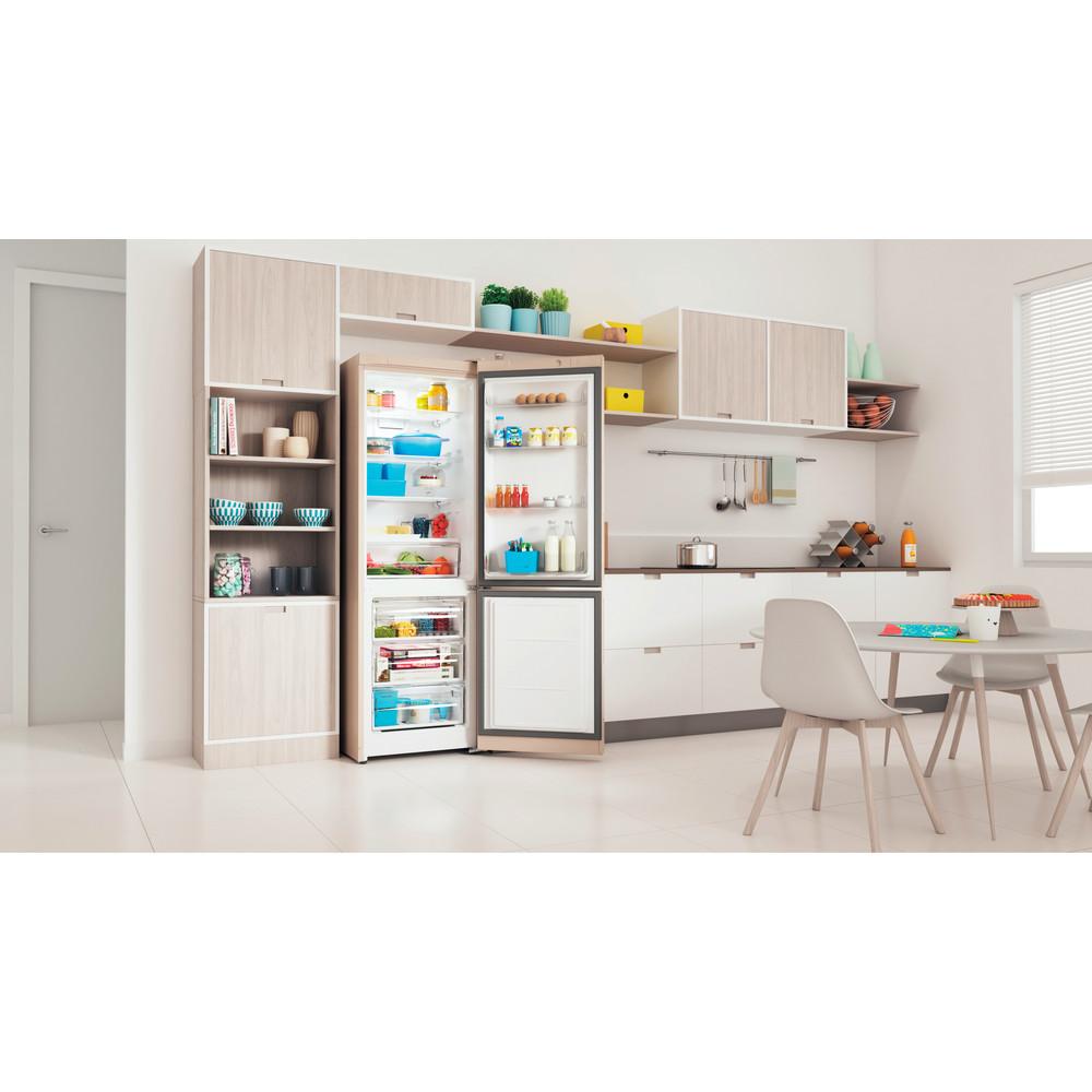 Indesit Холодильник с морозильной камерой Отдельностоящий ITR 5180 E Розово-белый 2 doors Lifestyle perspective open