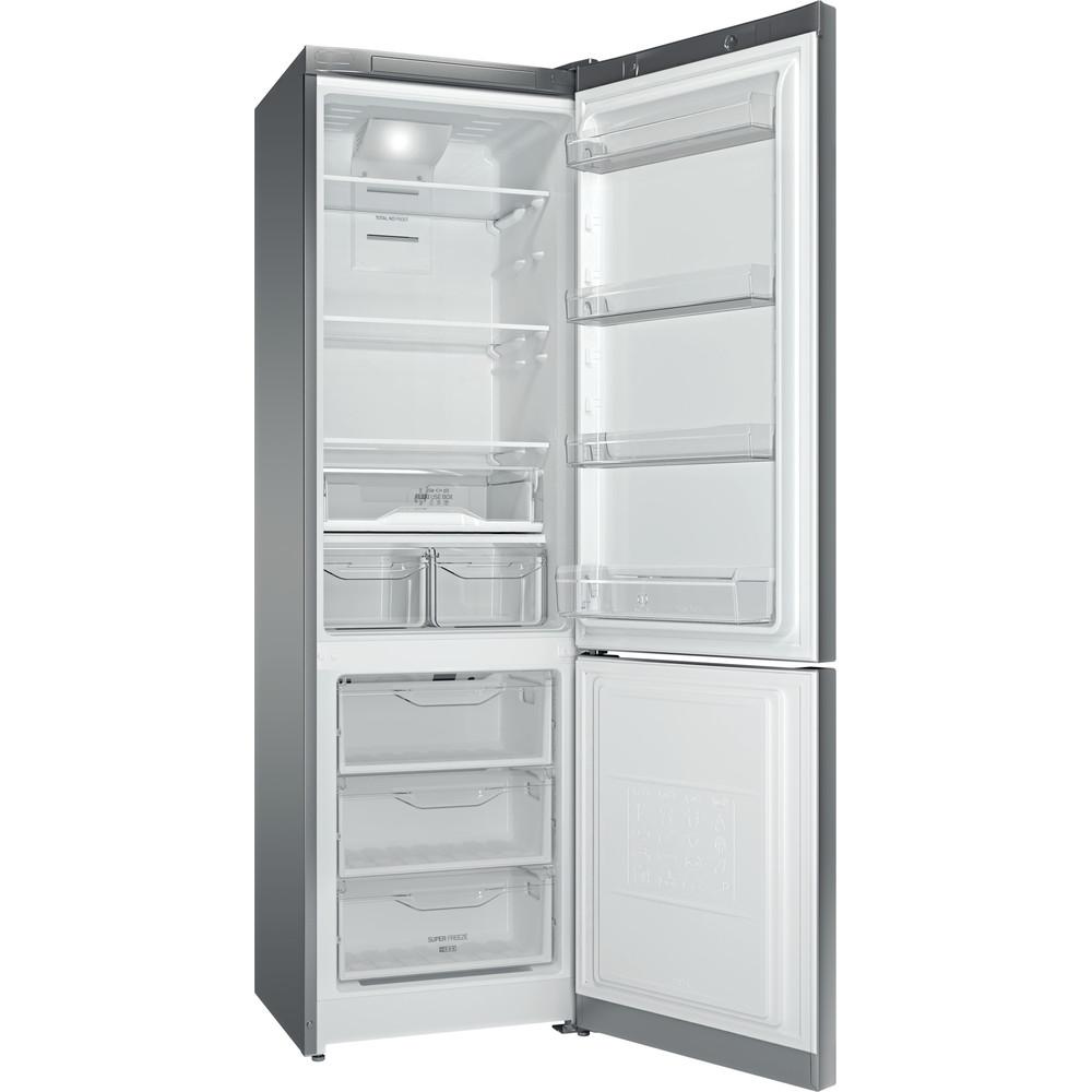 Indesit Холодильник с морозильной камерой Отдельностоящий ITF 120 X Inox 2 doors Perspective_Open