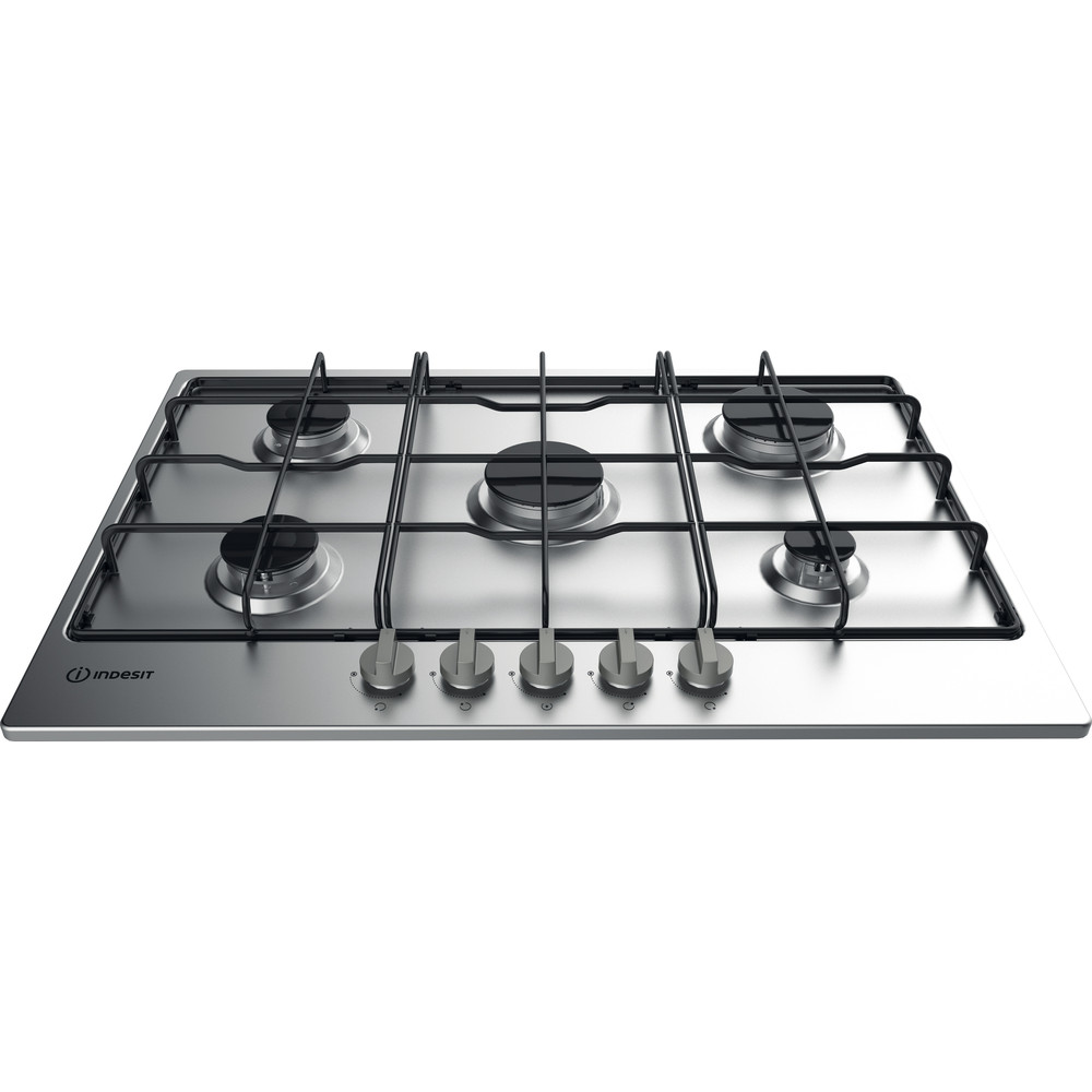 Indesit Table de cuisson THP 752 IX/I Inox GAS Frontal top down