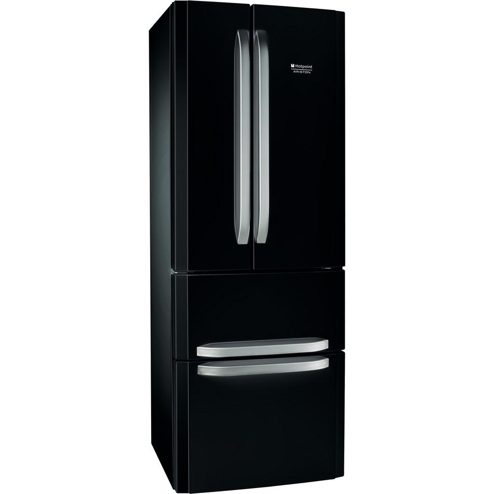 Hotpoint_Ariston Комбинированные холодильники Отдельностоящий E4D AA B C Черный 2 doors Perspective