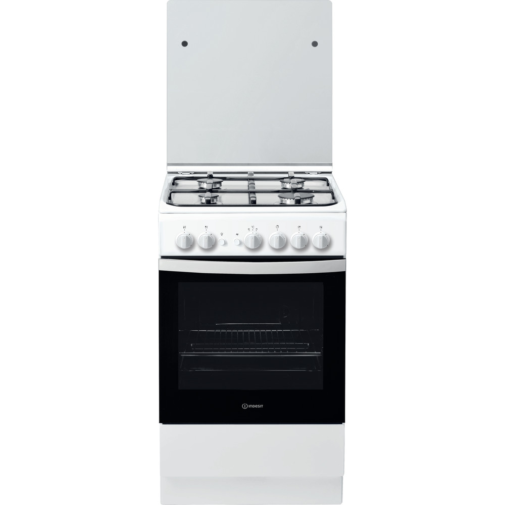 Indesit Fogão IS5G1PMW/E Branco Gás Frontal
