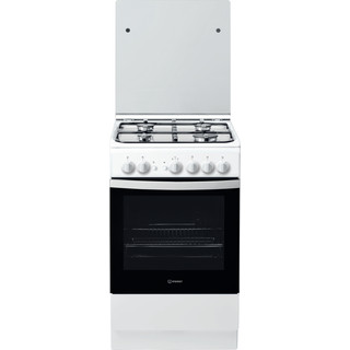 Indesit Cocina IS5G1PMW/E Blanco Gas Frontal