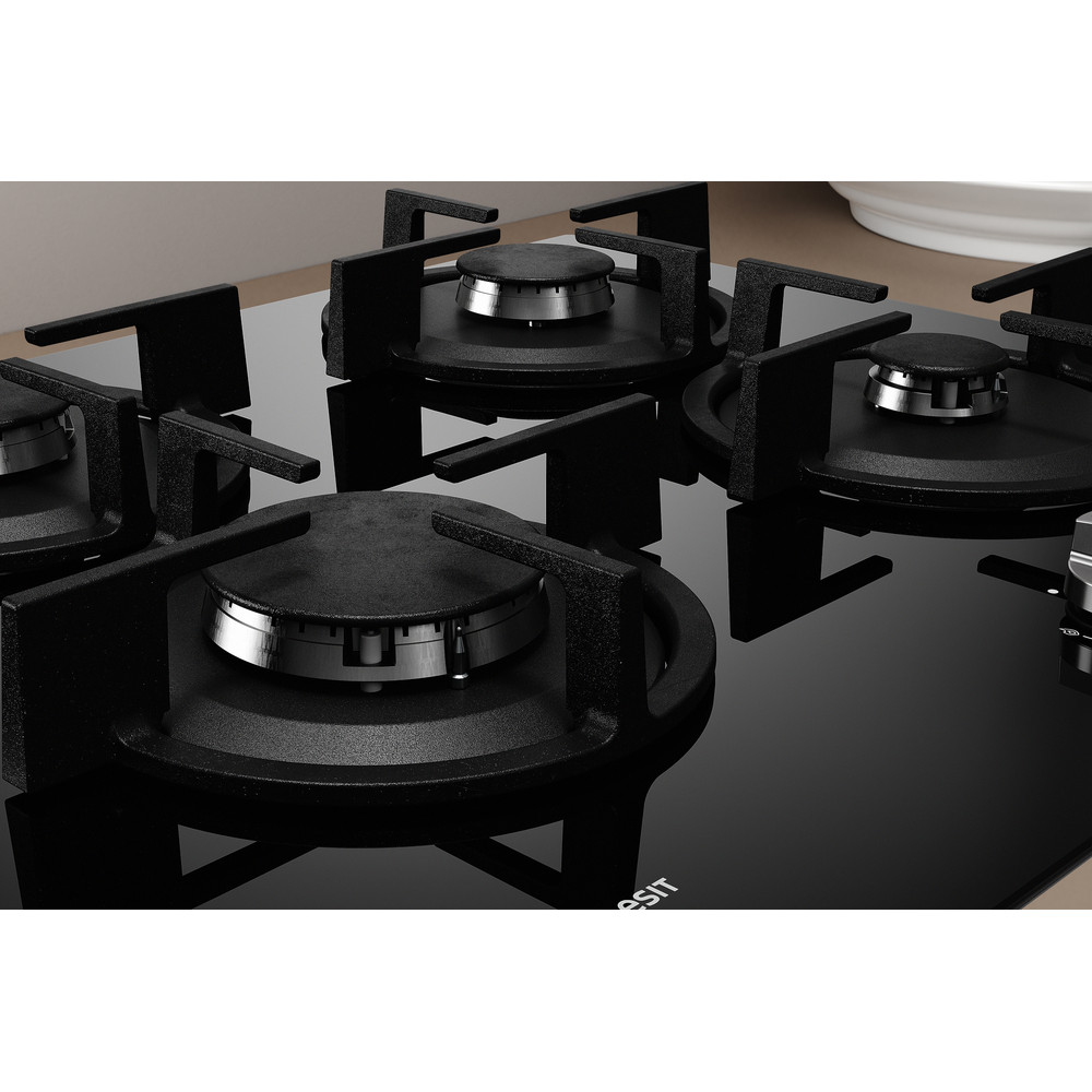 Indesit Варочная поверхность ING 61S/BK Черный Газовая Heating element